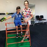 Young boy with Montrose therapist