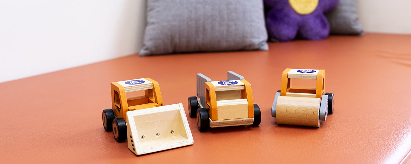 Small toy trucks