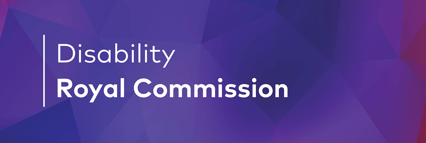 Disability Royal Commission header