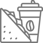 sandwich and drink icon