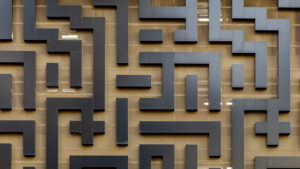 Maze outline on a wall