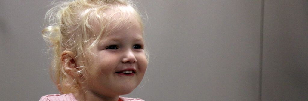 Big smile from a little girl